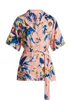 Diane Von Furstenberg Floral-print belted shirt