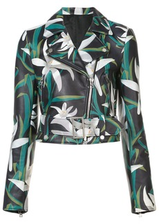 Diane Von Furstenberg floral print biker jacket