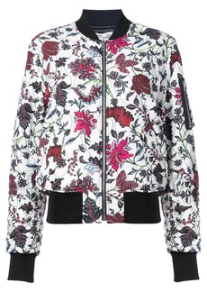Diane Von Furstenberg floral print bomber jacket - White