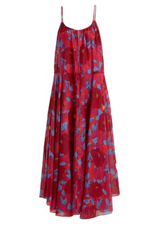 Diane Von Furstenberg Floral-print cotton and silk-blend dress