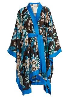 Diane Von Furstenberg Floral-print cotton and silk-blend kimono