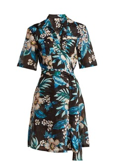 Diane Von Furstenberg Floral-print cotton and silk-blend wrap dress