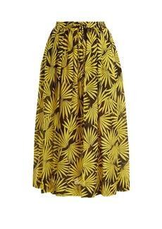 Diane Von Furstenberg Floral-print cotton-blend midi skirt