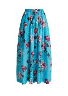 Diane Von Furstenberg Floral-print cotton-blend skirt