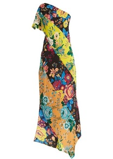 Diane Von Furstenberg Floral-print one-shoulder silk dress