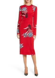 Diane von Furstenberg Floral Print Sheath Dress