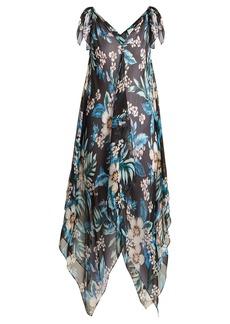 Diane Von Furstenberg Floral-print silk-chiffon cover-up