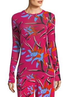 Diane Von Furstenberg Floral-Print Top