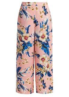 Diane Von Furstenberg Floral-print wide-leg trousers