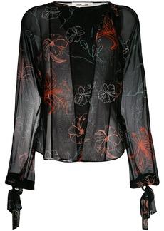 Diane Von Furstenberg floral printed blouse