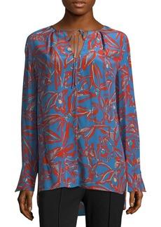 Diane von Furstenberg Floral Silk Blouse