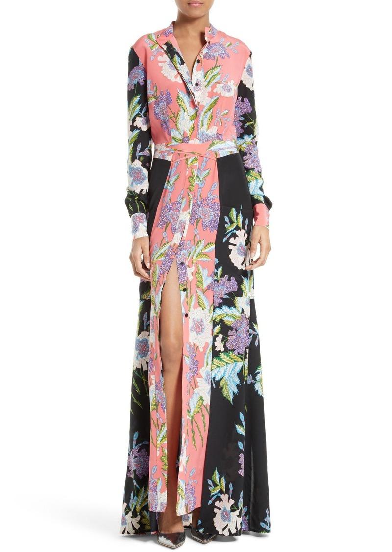 Floral silk shirt dress Diane Von Fürstenberg Clearance Supply 2018 Discount  Discount Cost Free Shipping Ebay oyz5kVMYnD