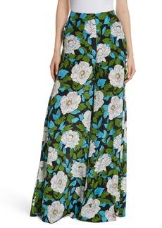 Diane von Furstenberg Floral Silk Palazzo Pants