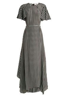 Diane Von Furstenberg Fluted-sleeve Cossier-print silk dress