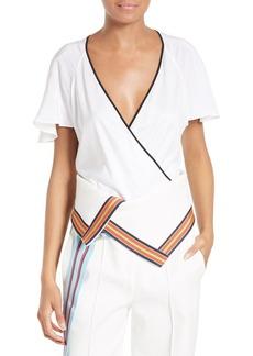 Diane von Furstenberg Flutter Sleeve Bodysuit