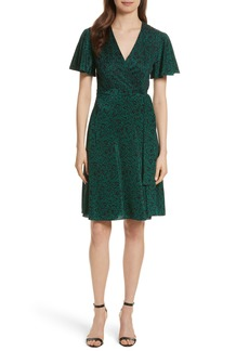 Diane von Furstenberg Flutter Sleeve Silk Wrap Dress
