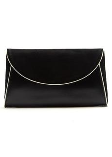 Diane Von Furstenberg Foldover suede and leather clutch