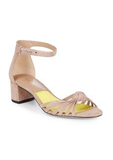 Diane von Furstenberg Fonesca Suede Block Heel Sandals