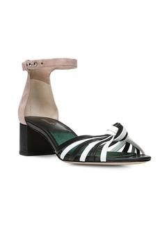 Diane von Furstenberg Fonseca Mid-Heel Ankle-Strap Sandals