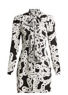 Diane Von Furstenberg Franca Crawling Chain-print crepe dress
