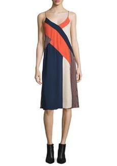 Diane von Furstenberg Frederica Sleeveless Colorblock Slip Dress