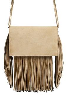 Diane von Furstenberg Fringe Soirée Suede Convertible Crossbody Bag