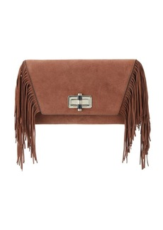 Diane von Furstenberg Fringed Leather Clutch