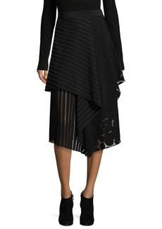Diane von Furstenberg Front Ruffle Midi Skirt