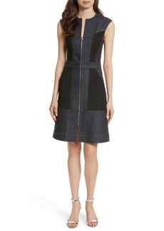 Diane von Furstenberg Front Zip Denim Dress