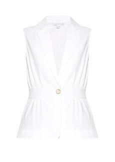 Diane Von Furstenberg Gavyn sleeveless jacket