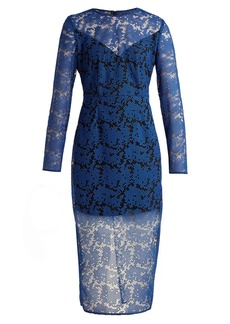 Diane Von Furstenberg Geometric-embroidered tulle dress