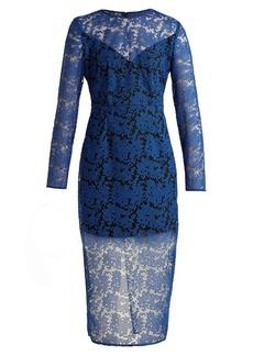 Diane Von Furstenberg Geometric-embroidered tulle dress