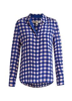 Diane Von Furstenberg Gingham silk shirt