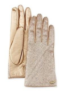 Diane von Furstenberg Glitterati Leather Gloves