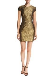 Diane von Furstenberg Hadlie Two Metallic Mini Dress