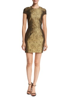 Diane von Furstenberg Hadlie Two Metallic Mini Dress