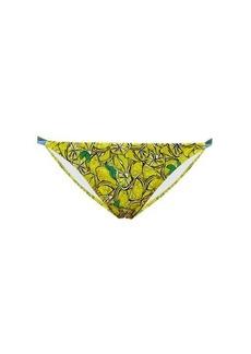 Diane Von Furstenberg Halle lemon-print bikini briefs