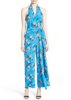 Diane von Furstenberg Halter Floral Suit Jumpsuit
