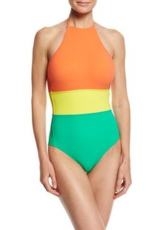 Diane Von Furstenberg Halter-Neck One-Piece Swimsuit