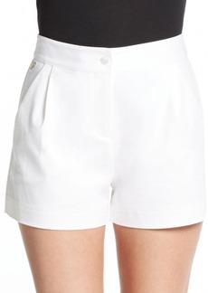 Diane von Furstenberg Hattie Pleated Stretch Cotton Shorts