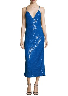 Diane von Furstenberg Havita Sequin-Embellished Midi Slip Dress
