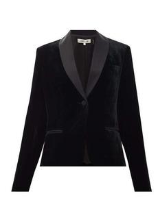 Diane Von Furstenberg Hermia satin-trimmed velvet tuxedo jacket