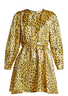 Diane Von Furstenberg Heyford leopard-jacquard silk-blend mini dress