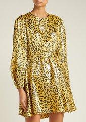 Diane Von Furstenberg Heyford leopard-jacquard silk-blend mini dress