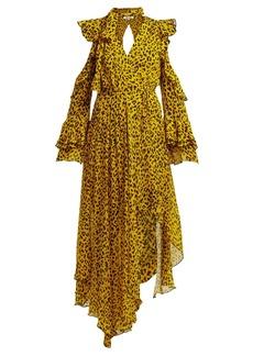 Diane Von Furstenberg Heyford leopard-print silk-chiffon wrap dress