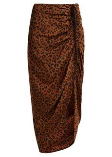 Diane Von Furstenberg Heyford leopard-print silk skirt