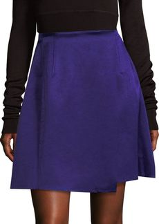 Hi-Rise Velvet Flared Skirt
