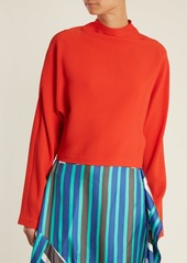 Diane Von Furstenberg High-neck cropped top