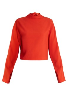 Diane Von Furstenberg High-neck cropped top