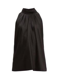 Diane Von Furstenberg High-neck satin blouse